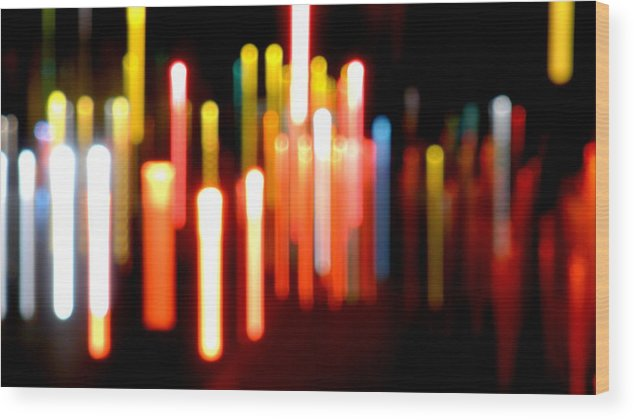 Lights Wood Print featuring the photograph Lights Party by Olga Breslav
