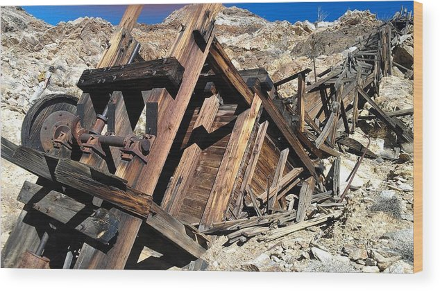 Mines Wood Print featuring the photograph Mines Of Death Valley by Barbara Gross