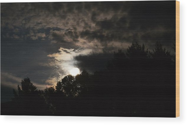 Full Moon Wood Print featuring the photograph Moon Light by Thomas Phillips