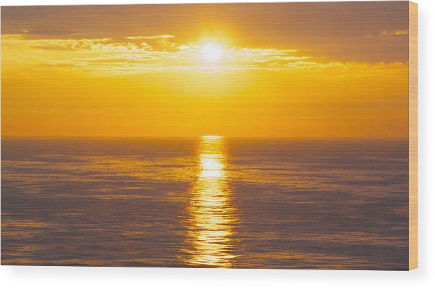 Sunset Wood Print featuring the photograph Morning Sky Reflections by Sue Turner-Cray