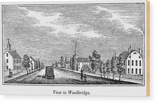 1844 Wood Print featuring the painting New Jersey Woodbridge by Granger