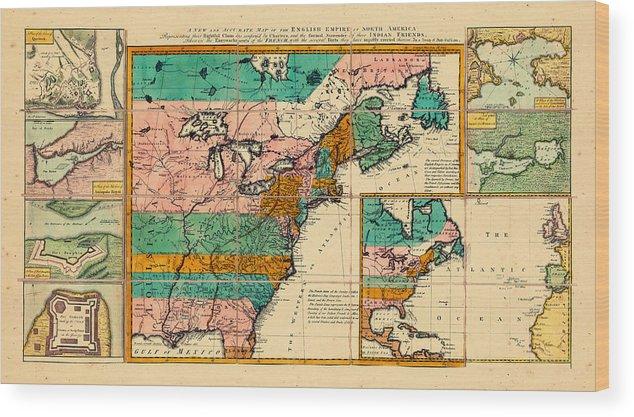North America, United States, 1755 Wood Print
