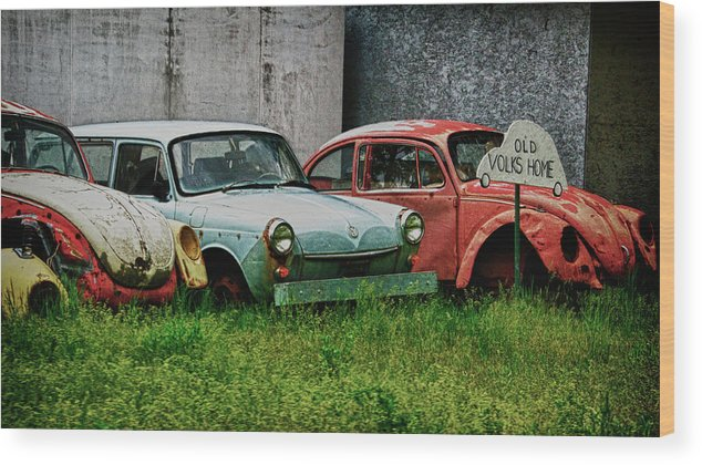 Volks Wood Print featuring the photograph Old Volks Home by Trever Miller