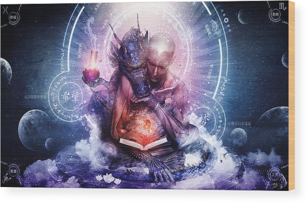 Spiritual Wood Print featuring the digital art Perhaps The Dreams Are Of Soulmates by Cameron Gray