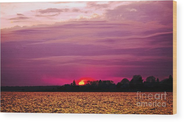 Sunset Wood Print featuring the photograph Psychoactive Sunset by Joe Geraci
