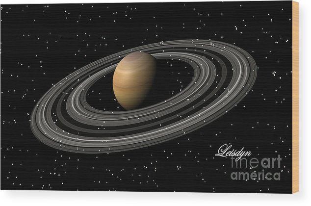 Saturn Photographs Wood Print featuring the photograph Saturn by Art by Leisdyn