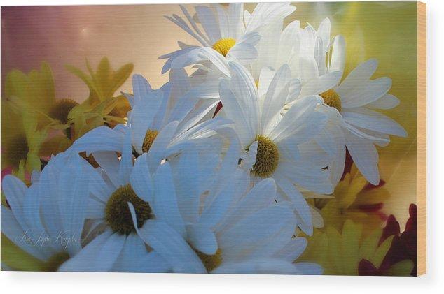 Mum Wood Print featuring the photograph Spring Blooms by Lisa Jayne Konopka