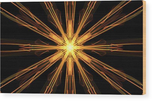 Decorative Wood Print featuring the digital art Star Burst by Anna Selezneva
