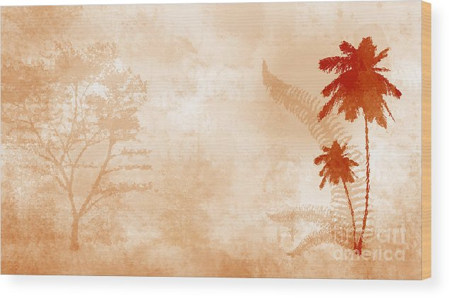 Tropical Wood Print featuring the digital art Tropical by Evgeny Gromov