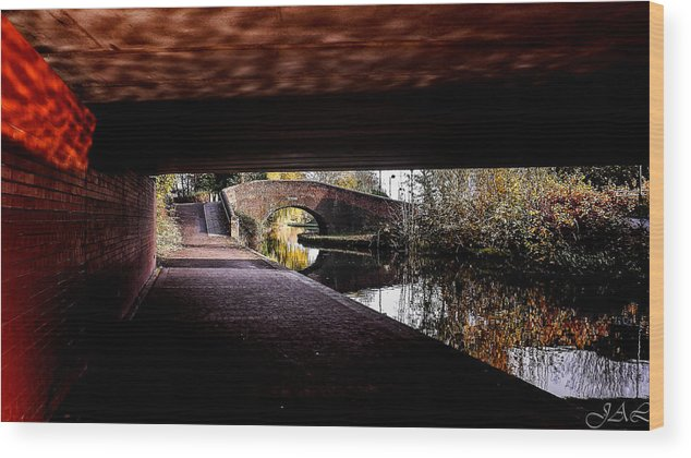 Under The Bridge Wood Print featuring the photograph Under The Bridge by Lina Jordaan