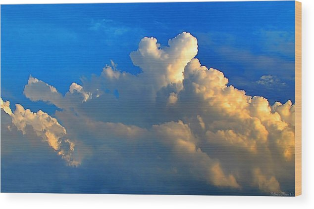 Morning Wood Print featuring the photograph A Heart On Top Of The Clouds by Debbie Portwood