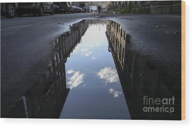 City Wood Print featuring the photograph Duality by John Thomas Foye