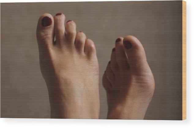 Feet Wood Print featuring the photograph Feet Of A Happy Woman After Coupling by Svetlana Sokolova