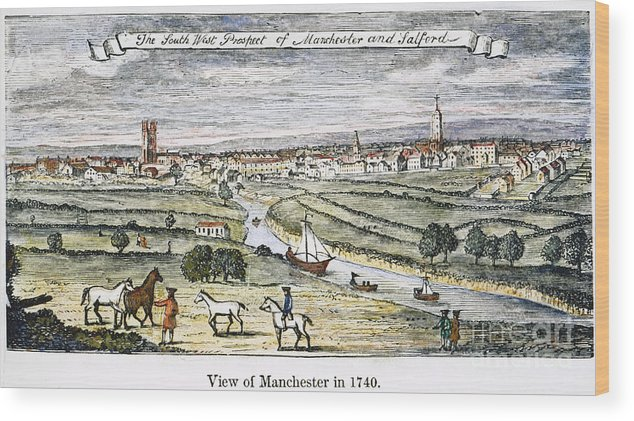 1740 Wood Print featuring the photograph Manchester, England, 1740 by Granger