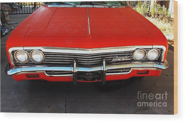 Chevy Wood Print featuring the photograph Old Chevy by Vicki Lomay