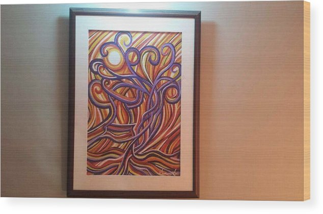 Wood Print featuring the painting Abstract by Sumera Saleem