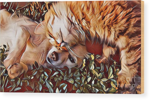 Animals Wood Print featuring the photograph Best Friends by Tarisa Smith