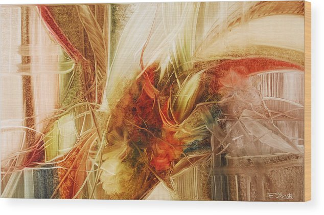 Blooming Wood Print featuring the painting Blooming In The Dawn by Fatima Stamato