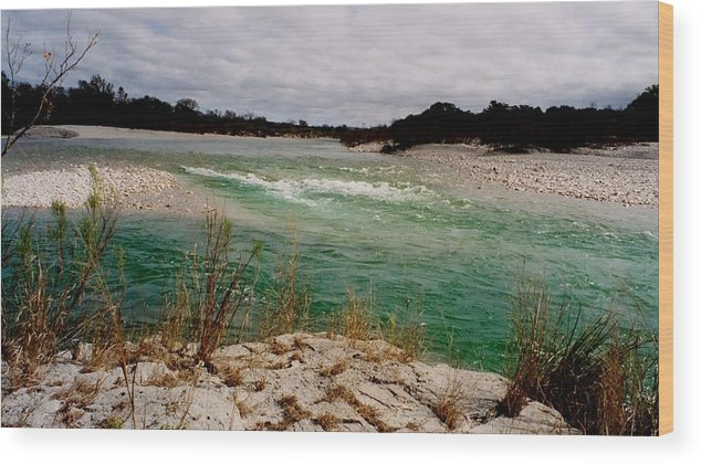 River Wood Print featuring the photograph Blue River One by Ana Villaronga