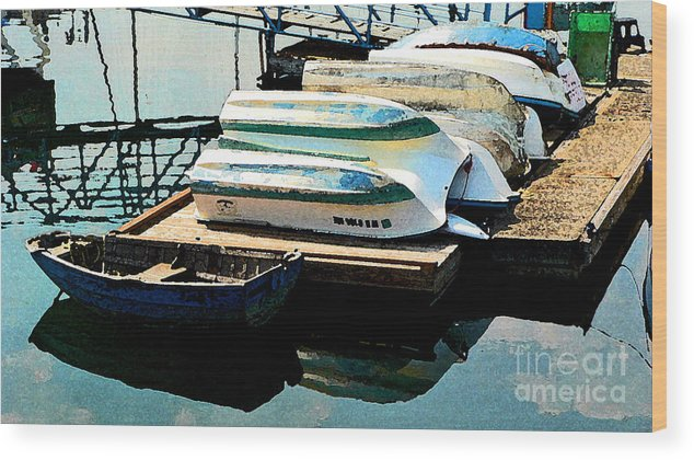 Boats Wood Print featuring the photograph Boats In Waiting by Larry Keahey