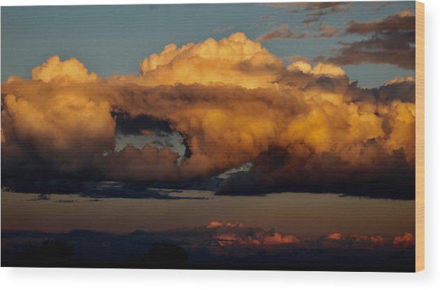 Landscape Wood Print featuring the photograph Clouds Over Utah by Suzette Munson