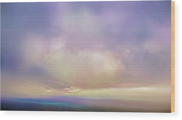 Atmosphere Wood Print featuring the mixed media Cumulos by Lonnie Christopher