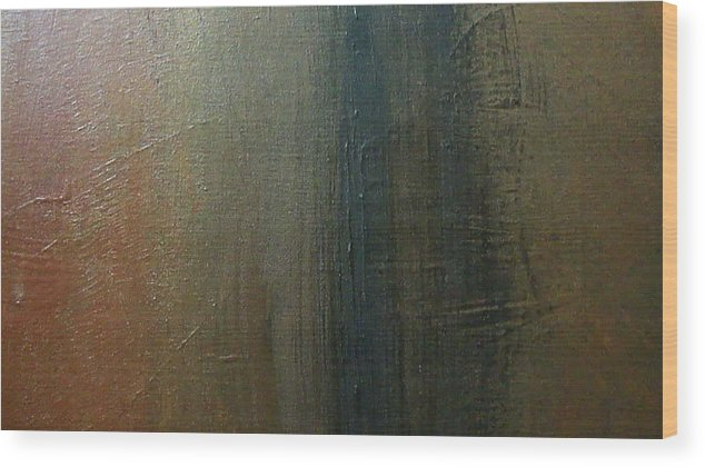 Abstract Landscape Wood Print featuring the painting Distance Calculator by Peggy Clinton