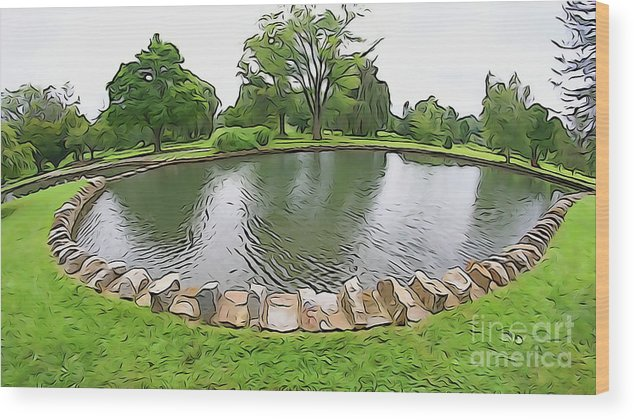 Wood Print featuring the photograph Eye Lake by Cj Mainor