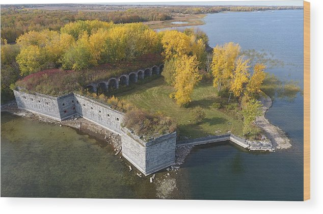 Fort Wood Print featuring the photograph Fort Montgomery Fall by Jedidiah Thone