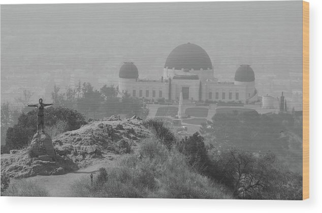 Griffith Observatory Wood Print featuring the photograph Griffith Obsevotory Celebration by Reagan Moore