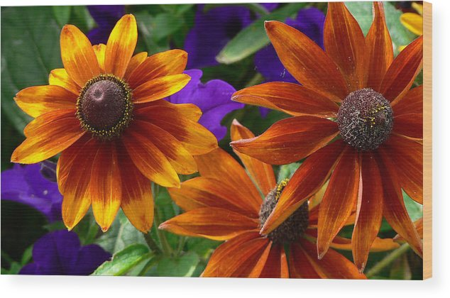 Flowers Wood Print featuring the photograph Layers Of Color by Larry Keahey