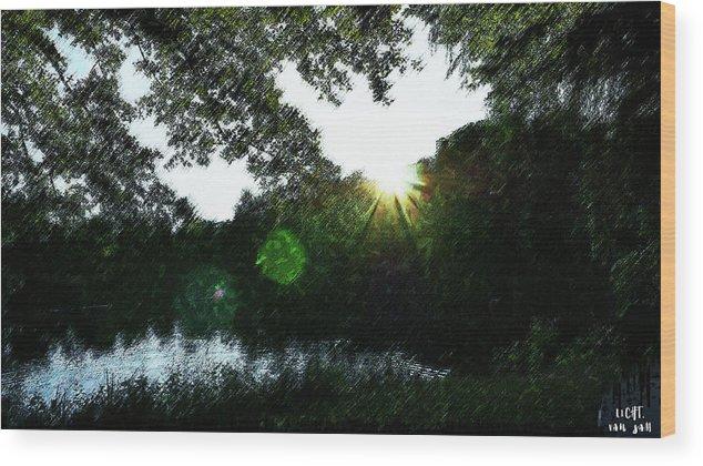 Licht.light.sunset Wood Print featuring the digital art Licht by Van Sam