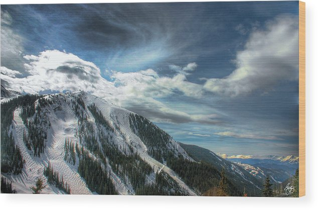 Mountain Wood Print featuring the photograph Light Fades On Arapaho Basin by Wayne King