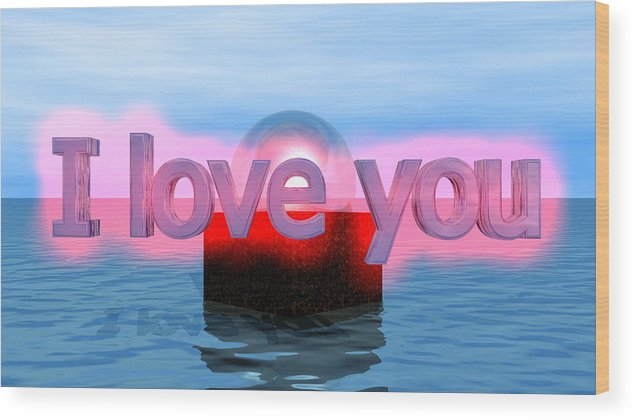 Wood Print featuring the digital art Love by Andreas R Wesener