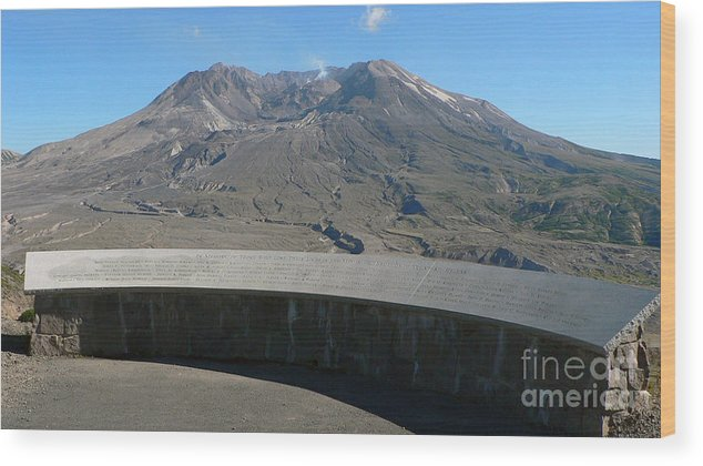 Volcano Wood Print featuring the photograph Mount St. Helen Memorial by Larry Keahey