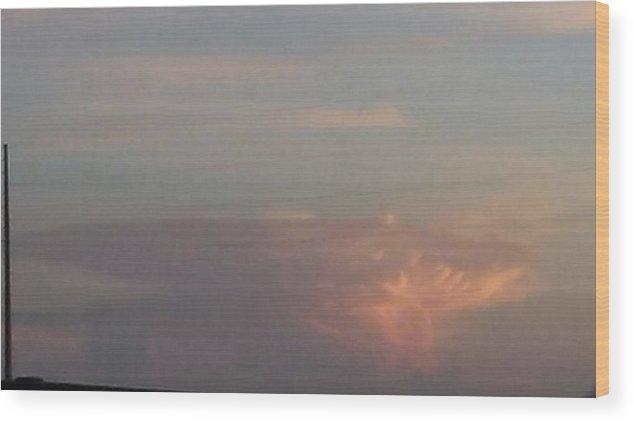 Cloud Wood Print featuring the photograph Mushroom Cloud by Rhonda Nash