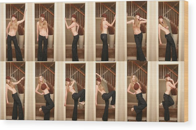 Topless Wood Print featuring the photograph New Jeans by Amanda Valena