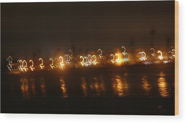 Ocean Wood Print featuring the photograph Ocean Night by Gillermo Mason
