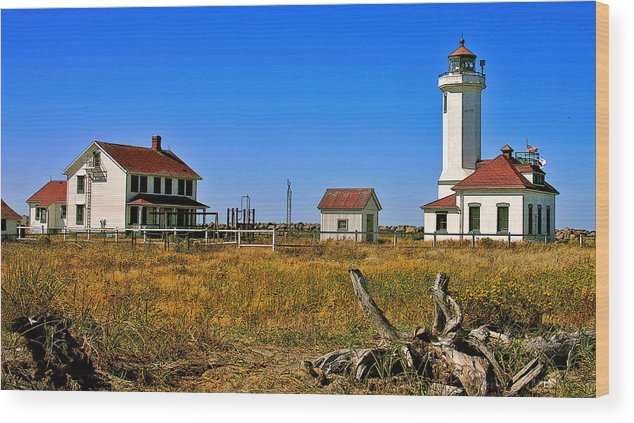 Washington Landscape Art Wood Print featuring the painting Port Townsend by Larry Darnell