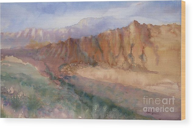 Sedopn Wood Print featuring the painting Sedona by Ann Cockerill