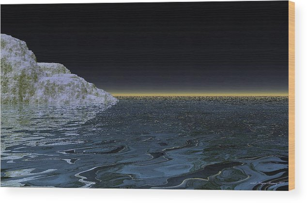 Wayne Bonney Wood Print featuring the digital art Snow On The Black Sea by Wayne Bonney