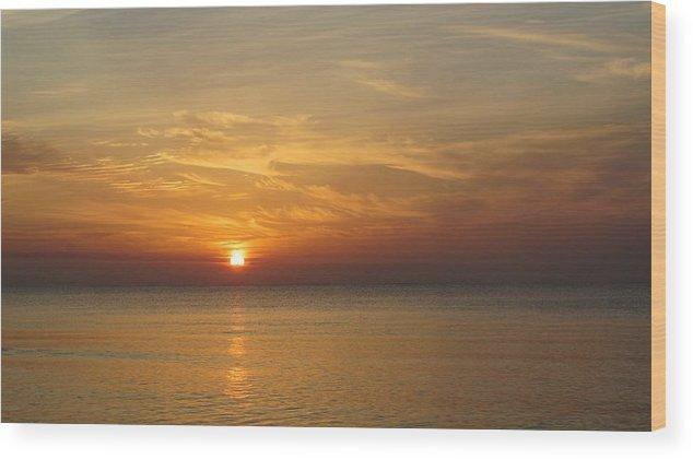 Sunrise Wood Print featuring the photograph Sunrise by Kyle Llinas