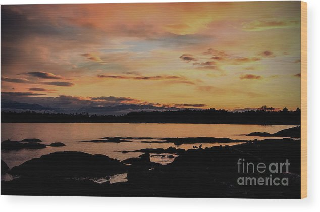 Bc Tourism Wood Print featuring the photograph Sunset In Paradise by Dorothy Hilde