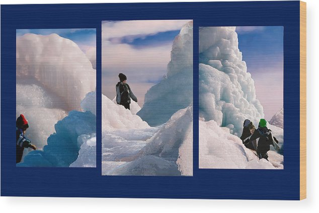 Landscape Wood Print featuring the photograph The Explorers by Steve Karol