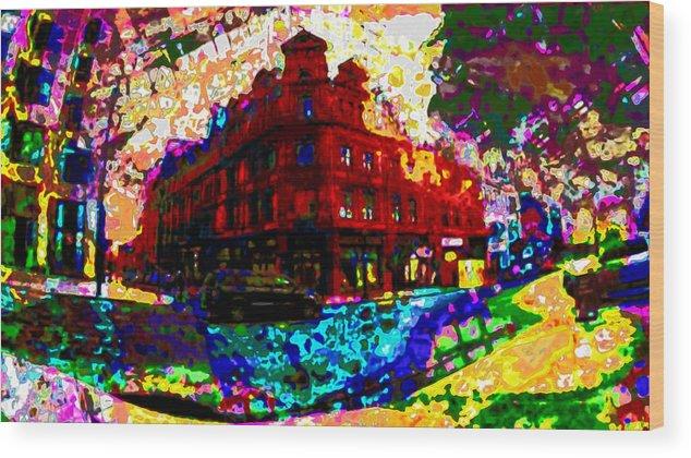 Hotel Wood Print featuring the digital art The Goodwin by Katherine Barnett