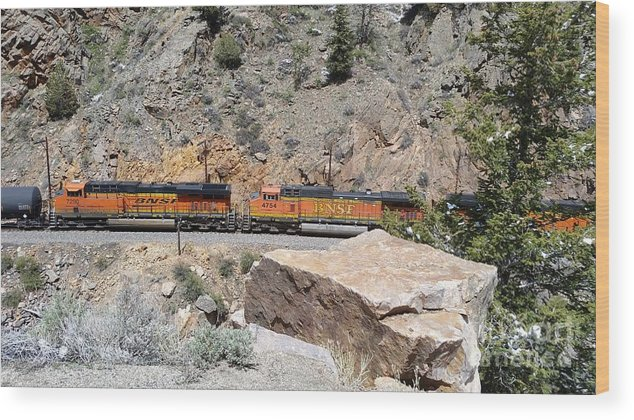 Wood Print featuring the photograph Train Engines by Faye Smiley-Aakre