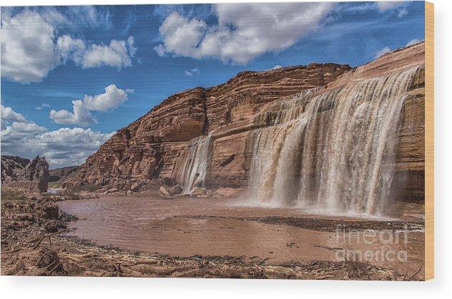 Arizona Wood Print featuring the photograph Arizona's Grand Falls by Kathy McClure