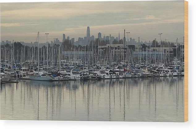 Boats Wood Print featuring the photograph Sfo Marina by Amy Metzger