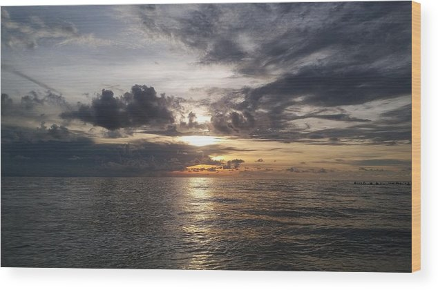 Sunset Wood Print featuring the photograph Sunset by Cora Jean Jugan
