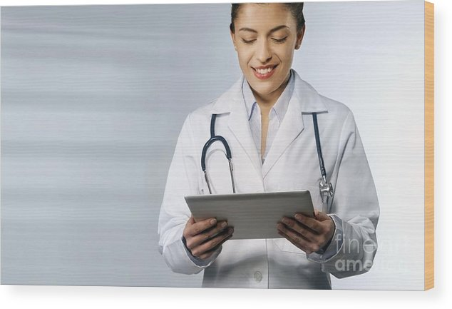 Equipment Wood Print featuring the photograph Telemedicine, Conceptual Image by Science Photo Library